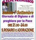 predazzo digiuno per la pace con papa francesco