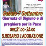 predazzo digiuno per la pace con papa francesco 150x150 Preghiera del Papa per le vittime dell'undici Settembre