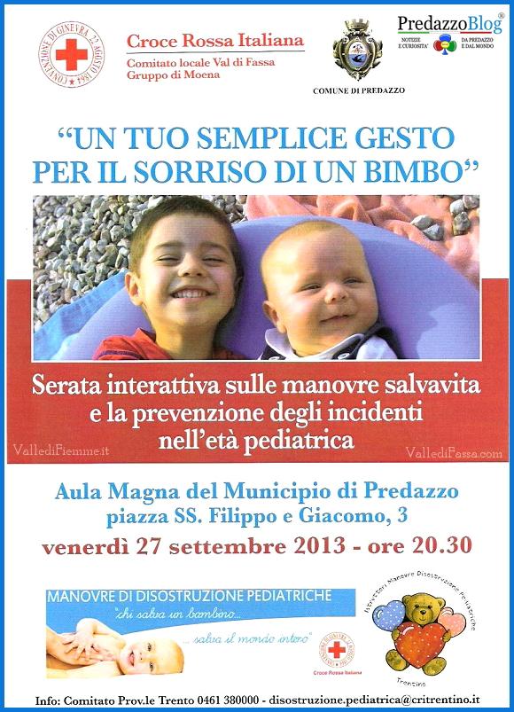 serata croce rossa predazzo Predazzo, serata interattiva sulle manovre salvavita in età pediatrica