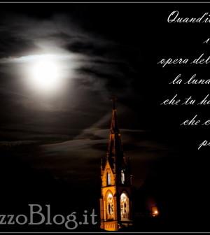 campanile predazzo con luna e salmo 8 predazzoblog