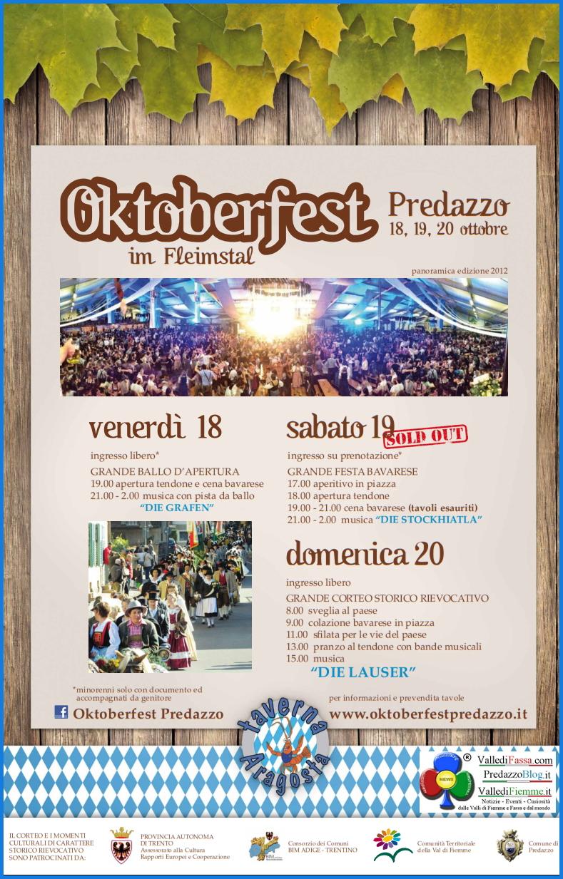 manifesto locandina oktoberfest predazzo 2013 Predazzo, è tutto pronto per lOktoberfest 2013