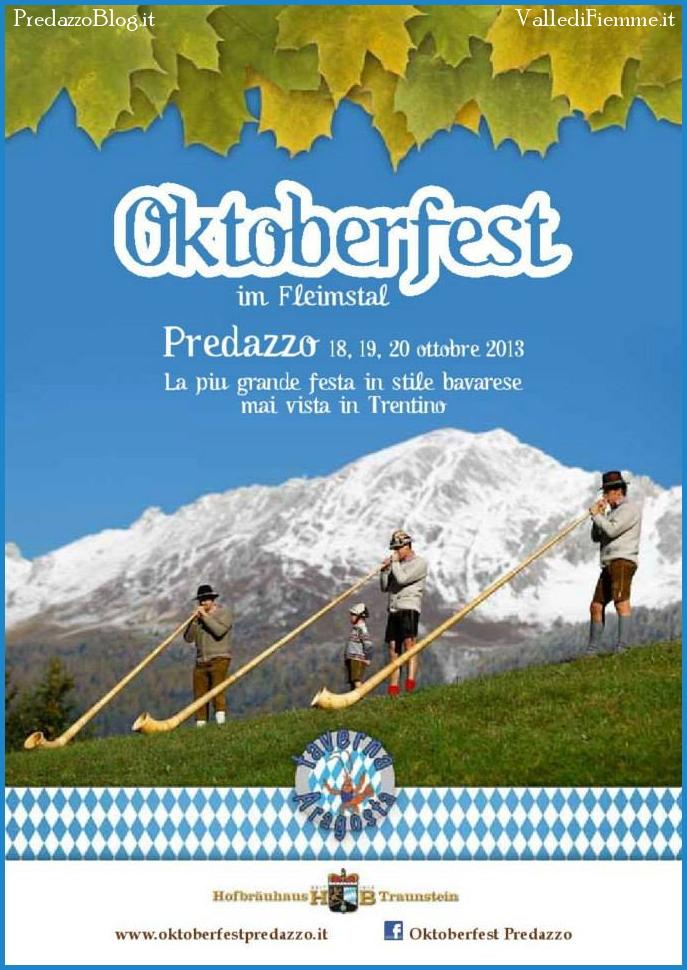 oktoberfest 2013 predazzo copertina libretto Predazzo, è tutto pronto per lOktoberfest 2013