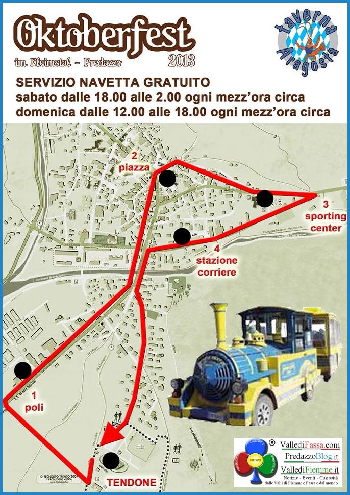 oktoberfest 2013 predazzo mappa del paese navetta predazzoblog Predazzo, è tutto pronto per lOktoberfest 2013