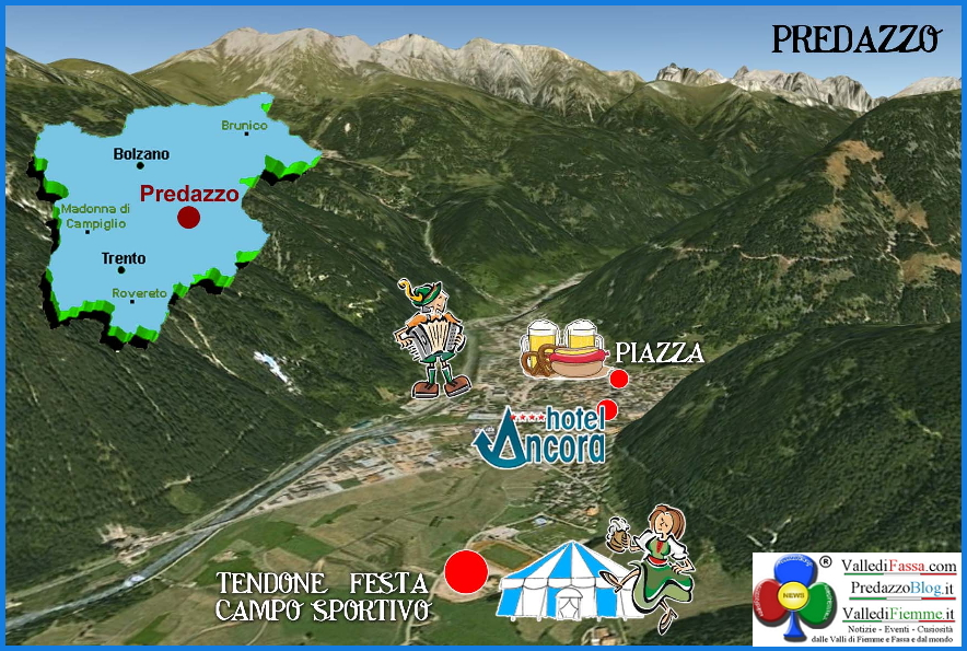 oktoberfest 2013 predazzo mappa del paese predazzoblog Oktoberfest 2013 a Predazzo 18 19 20 ottobre