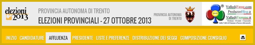 risultati elezioni provincia trento 2013 Elezioni Provinciali 2013 Trentino   I risultati in tempo reale