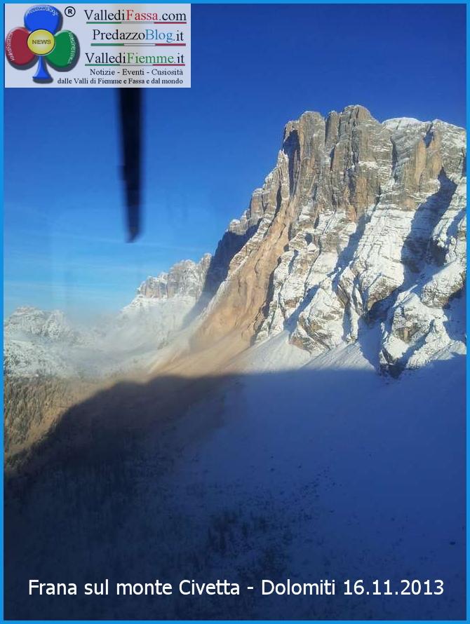 Frana sul monte Civetta Dolomiti 16.11.2013 predazzo blog 1 Grande frana sul versante nord del Civetta