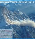 Frana sul monte Civetta - Dolomiti 16.11.2013 predazzo blog