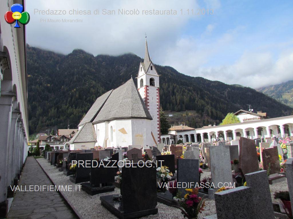 Predazzo chiesa di san Nicolò al cimitero restaurata 2013 ph mauro morandini2 Avvisi Parrocchie dal 29.10 al 5.11