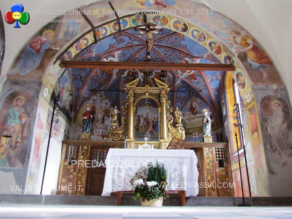 Predazzo chiesa di san Nicolò al cimitero restaurata 2013 ph mauro morandini40 Avvisi della Parrocchia 1 8 novembre