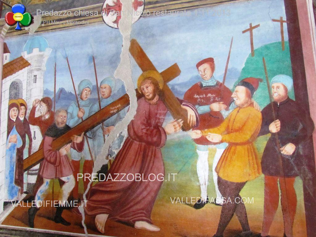 Predazzo chiesa di san Nicolò al cimitero restaurata 2013 ph mauro morandini53 Predazzo, avvisi della Parrocchia 22/29 marzo