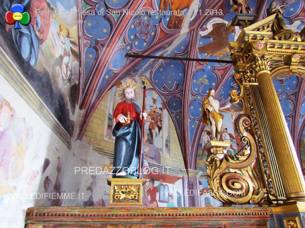 Predazzo chiesa di san Nicolò al cimitero restaurata 2013 ph mauro morandini59 Le Chiese di Predazzo