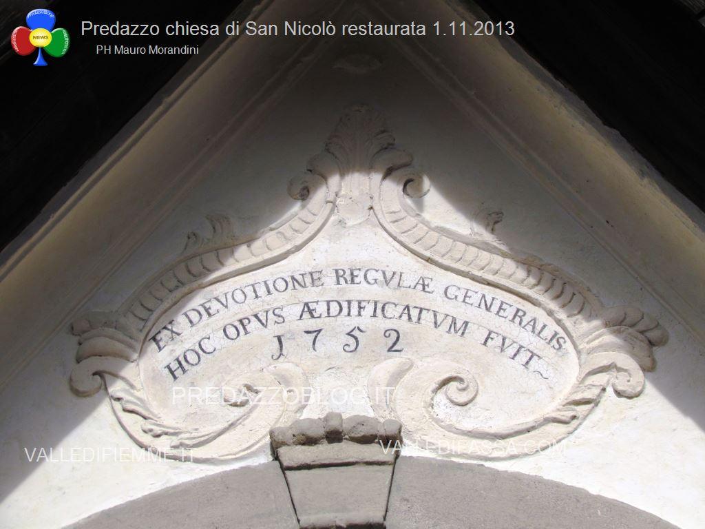 Predazzo chiesa di san Nicolò al cimitero restaurata 2013 ph mauro morandini73 Predazzo, inaugurazione di fine lavori della Chiesa di San Nicolò