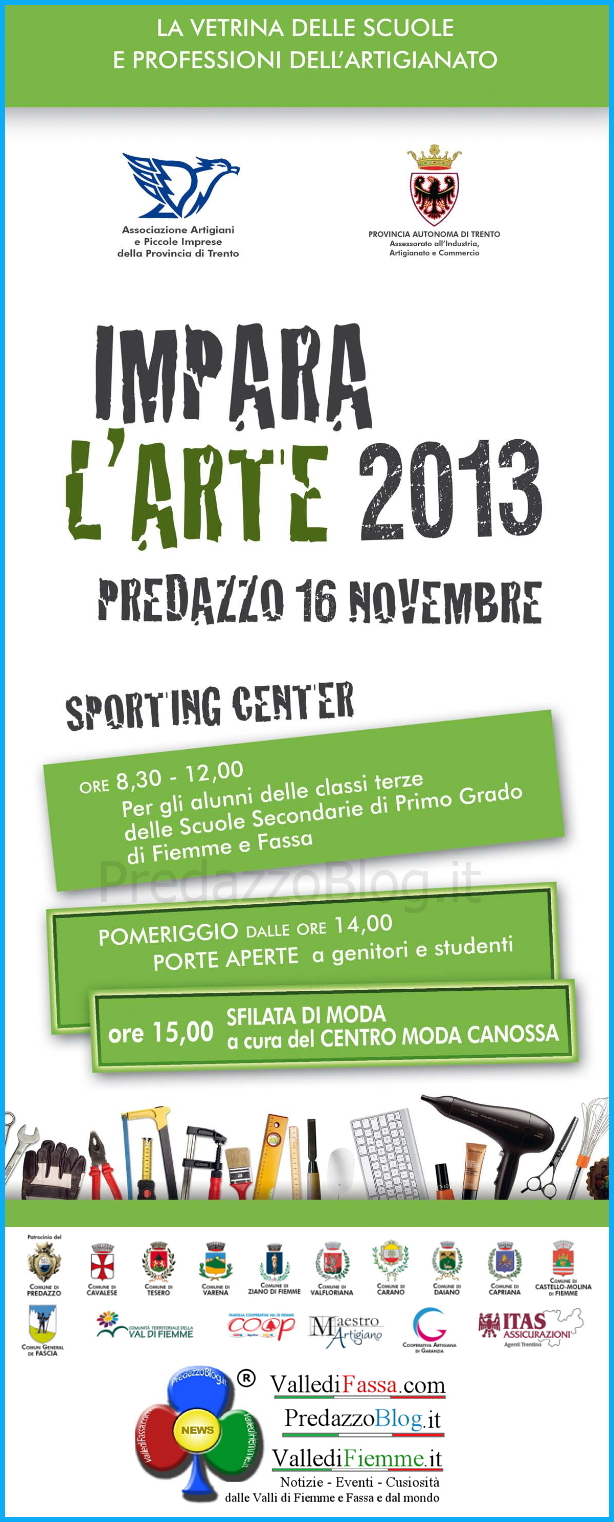 impara larte 2013 Predazzo, Impara lArte 2013 allo Sporting Center