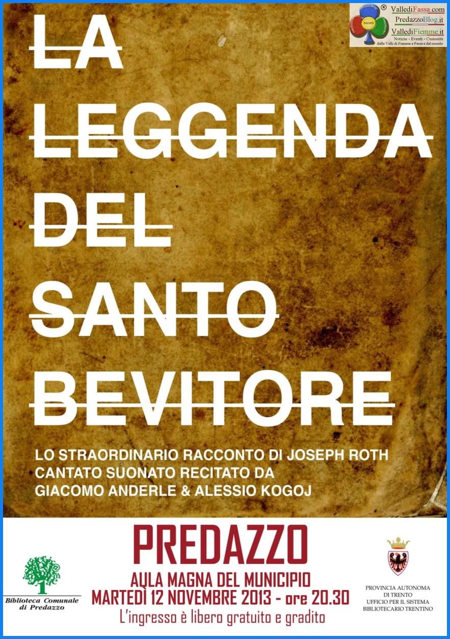 leggenda del santo bevitore predazzoblog La leggenda del Santo Bevitore   12 novembre a Predazzo