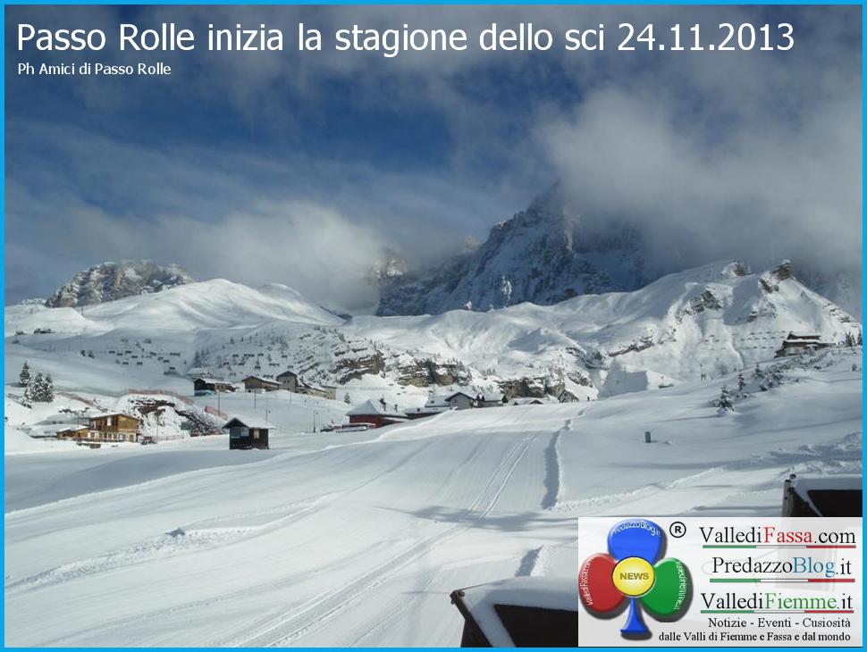 passo rolle stagione sci al via 24.11.2013 predazzo blog 1 Al via la stagione dello sci, Passo Rolle apre domani