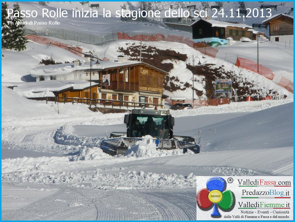 passo rolle stagione sci al via 24.11.2013 predazzo blog Al via la stagione dello sci, Passo Rolle apre domani