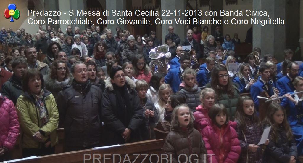 predazzo concerto santa cecilia 2013 banda civica e cori6 Predazzo, avvisi della Parrocchia dal 16/23 novembre