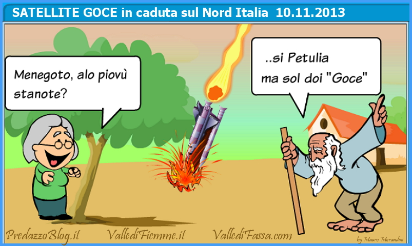 satellite goce caduto novembre 2013 predazzo blog Attenzione il Satellite Goce potrebbe cadere sul Trentino