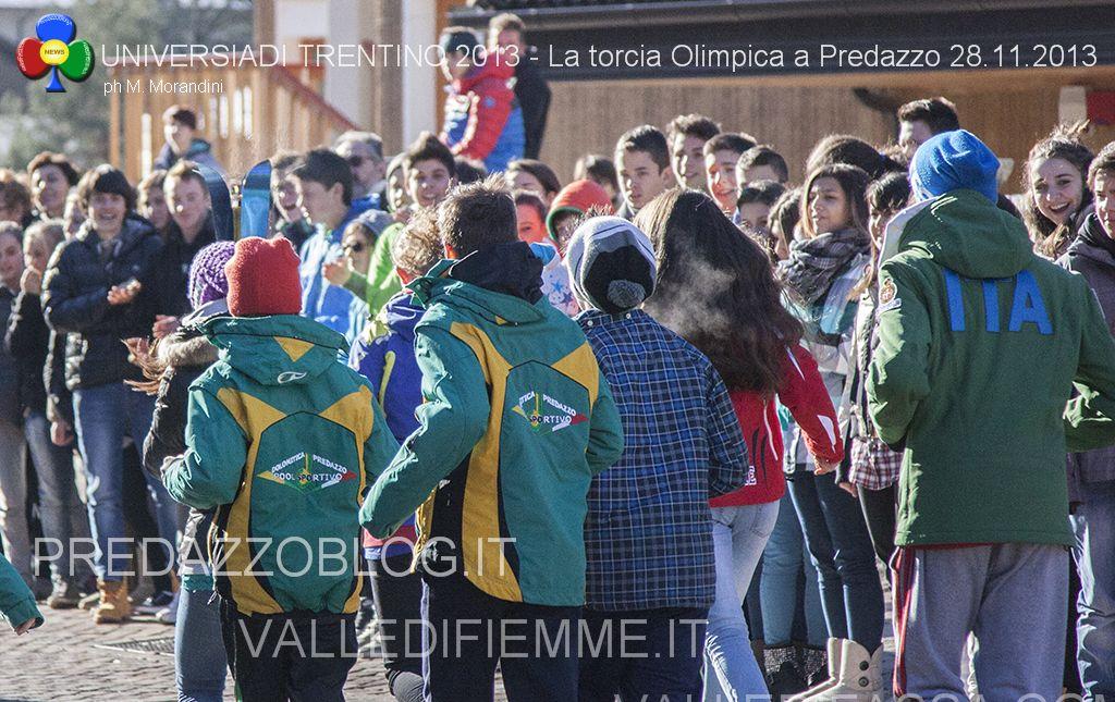 universiadi 2013 la torcia olimpica a predazzo fiemme fassa3 Arriva a Predazzo la Torcia Olimpica delle Universiadi 2013