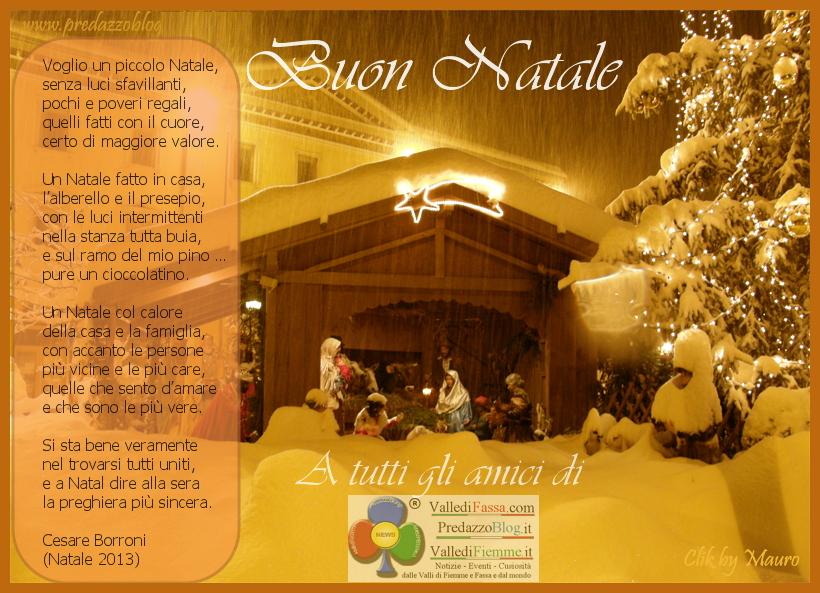 auguri buon natale agli amici di predazzo blog con poesia Un piccolo Natale Auguri in poesia a tutti gli amici dei nostri blog