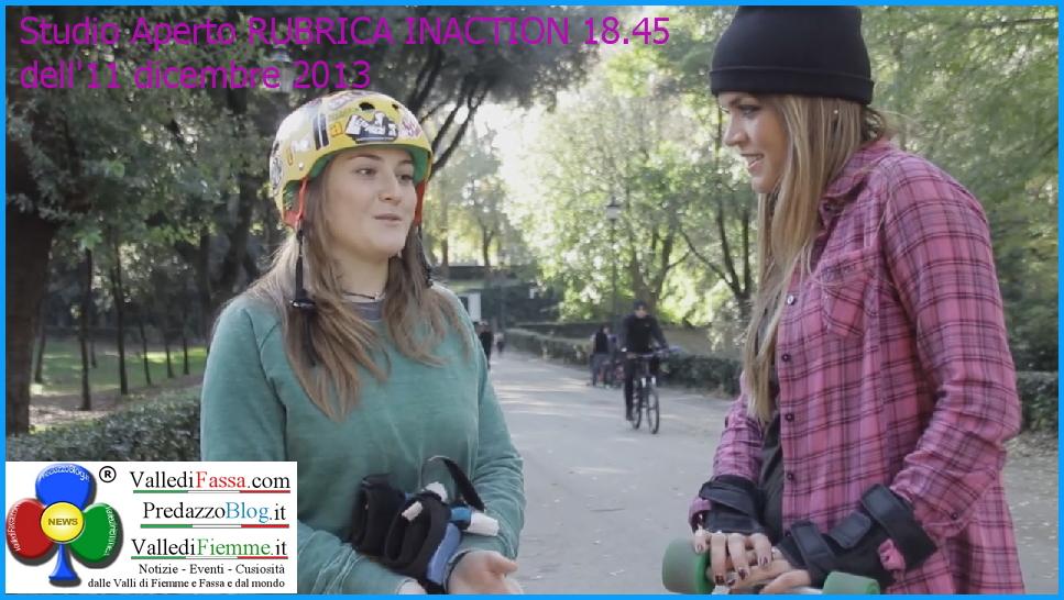 denise dellagiacoma in action skate a roma La Valle di Fiemme su Italia1 questa sera con Denise di Predazzo