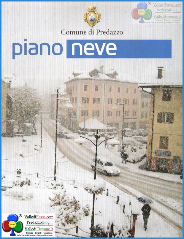 piano neve1 Il nuovo Piano Neve del Comune di Predazzo