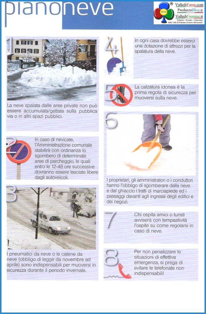 piano neve2 Il nuovo Piano Neve del Comune di Predazzo