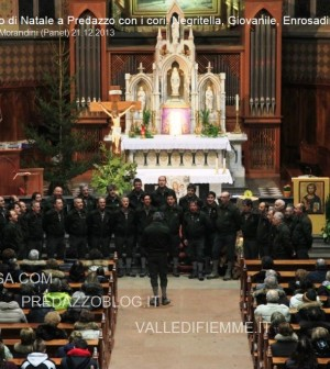 predazzo concerto di natala coro negritella, coro giovanile, coro enrosadira3