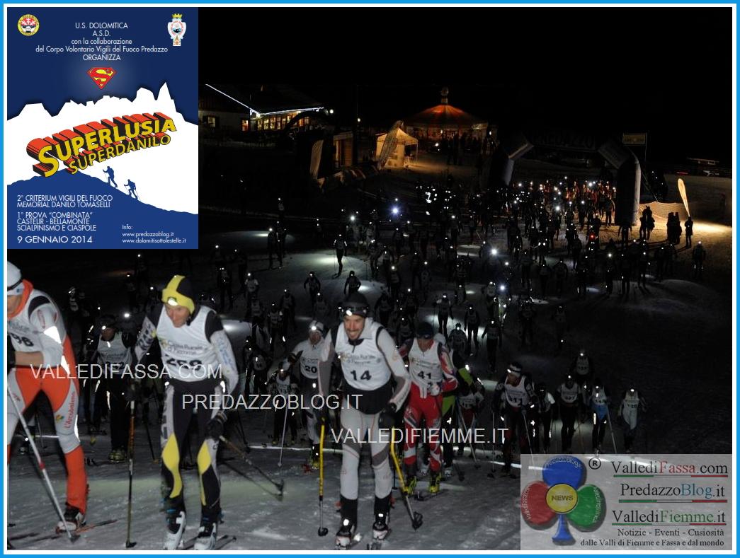 superlusia foto da castelir predazzoblog 1 Dolomiti sotto le Stelle, al via la SU PER LUSIA  SU PER DANILO con oltre 400 concorrenti