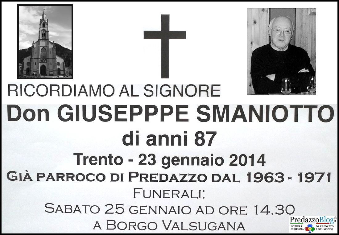 don giuseppe smaniotto predazzo Predazzo necrologi, don Giuseppe Smaniotto   Giuseppina Massignani   Giuseppe Diprima