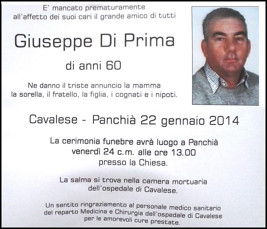 giuseppe di prima Predazzo necrologi, don Giuseppe Smaniotto   Giuseppina Massignani   Giuseppe Diprima