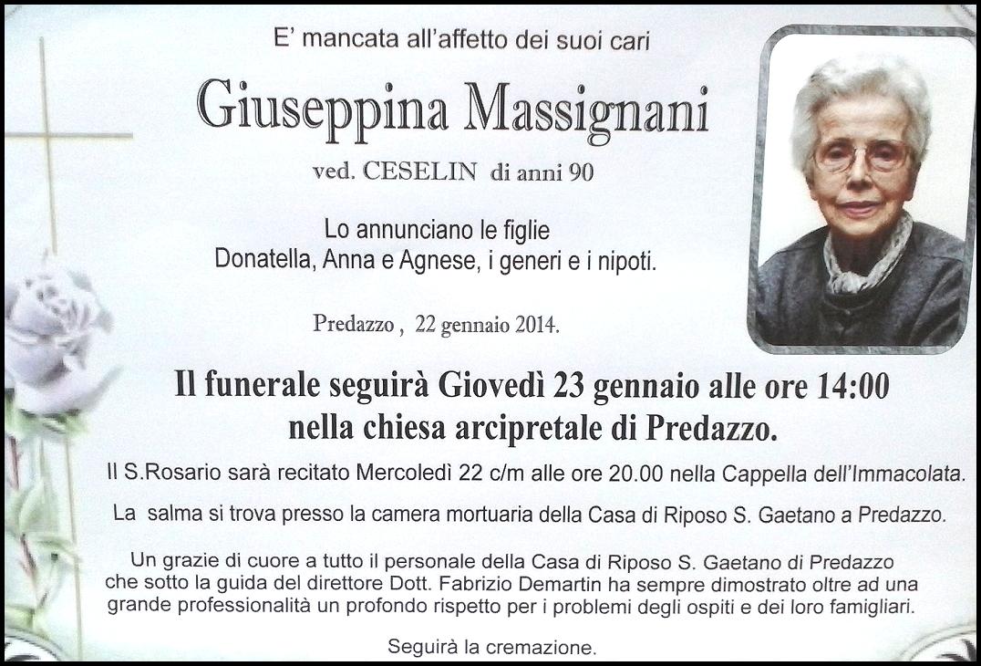 giuseppina massignani Predazzo necrologi, don Giuseppe Smaniotto   Giuseppina Massignani   Giuseppe Diprima