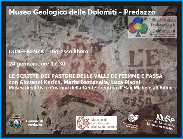 museo geologico predazzo Le Scritte dei Pastori al Museo Geologico delle Dolomiti di Predazzo   Foto