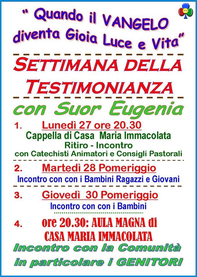 parrocchia predazzo locandina suor eugenia Predazzo, avvisi Parrocchia e necrologio, Romeo Dellasega