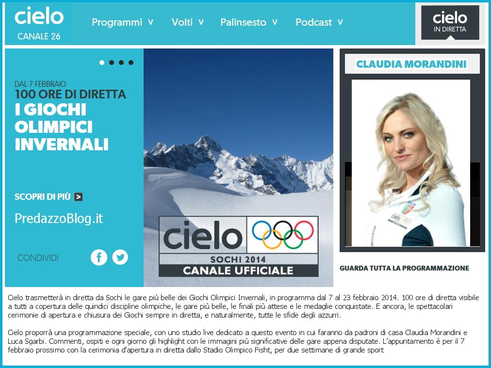 cielo sky claudia morandini predazzo blog Olimpiadi invernali in TV: Claudia Morandini di Predazzo racconta Sochi su Cielo