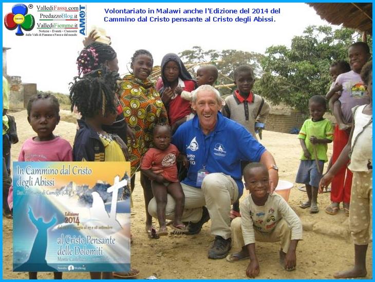malawi cristo pensante cristo abissi 2014 Il Cammino dal Cristo pensante a quello degli Abissi, raccolti 3.313 € per lAfrica