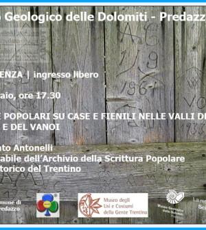 museo geologico dolomiti predazzo scritte popolari su case e fienili