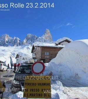 passo rolle neve e disagi al 23.2.2014 predazzo blog1