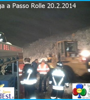 valanga a passo rolle 20 febb 2014
