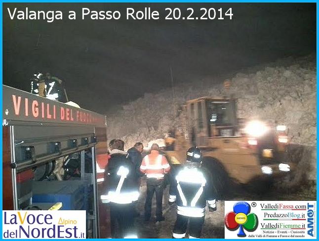 valanga a passo rolle 20 febb 2014 Valanga a Passo Rolle  con fronte di 40 metri