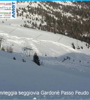 valanga danneggia seggiovia gardonè passo feudo 20.2.14 ski center latemar predazzo