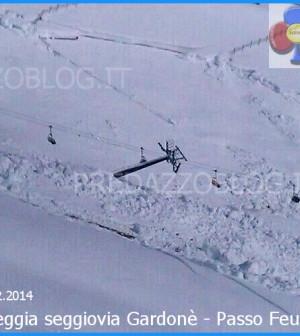 valanga danneggia seggiovia gardone passo feudo aggiornamento 20.2.2014