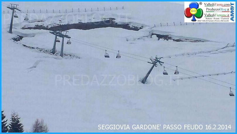 valanga seggiovia gardone passo feudo 16.2.2014 Valanga danneggia seggiovia Gardonè/Passo Feudo   Impianti chiusi