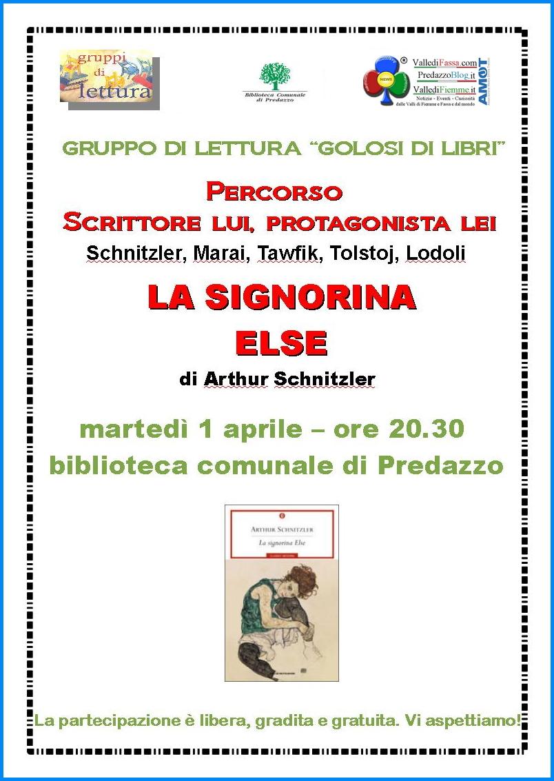 """biblioteca predazzo primo aprile Predazzo, """"Golosi di libri"""" con il Gruppo di lettura"""