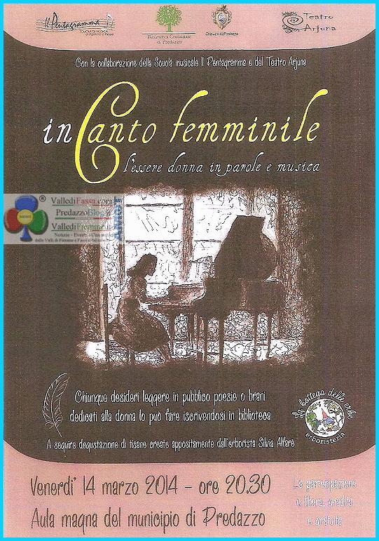 in canto femminile predazzo Predazzo, inCanto Femminile