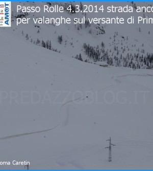 passo rolle chiuso per neve valanghe predazzo blog