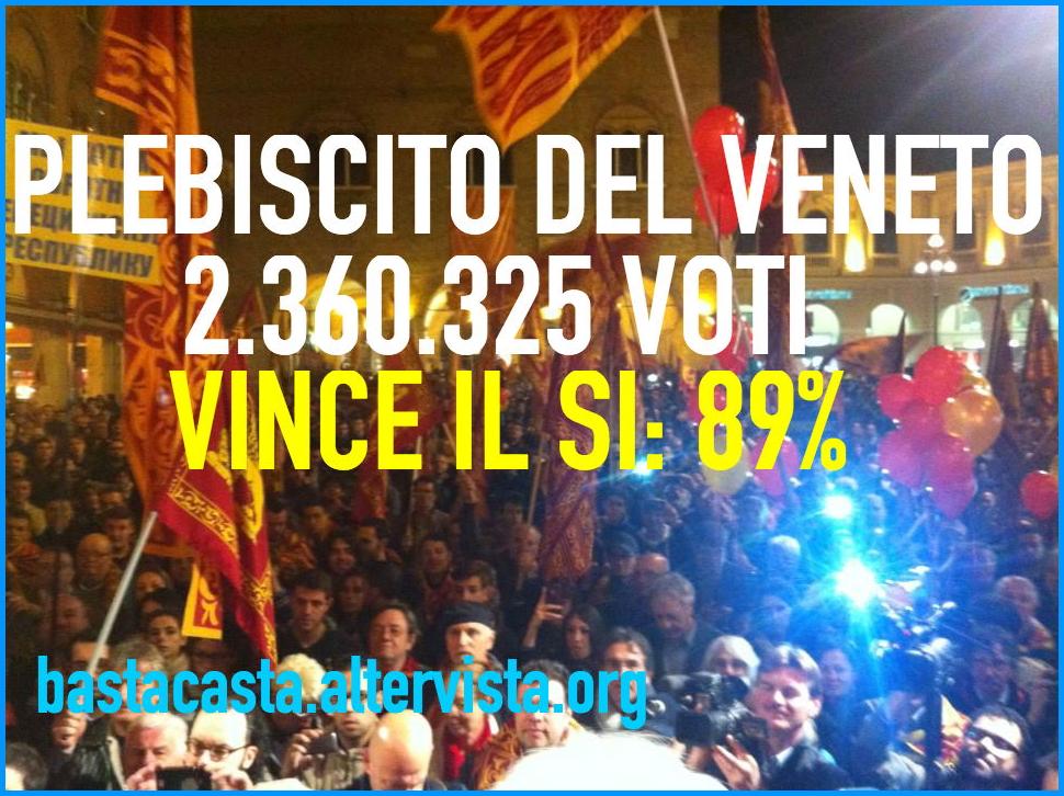 plebiscito veneto Referendum di indipendenza in Veneto, vince il si