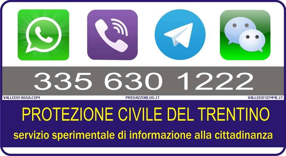 protezione civile trentino numero servizio info Protezione Civile, servizio sperimentale informazione alla cittadinanza