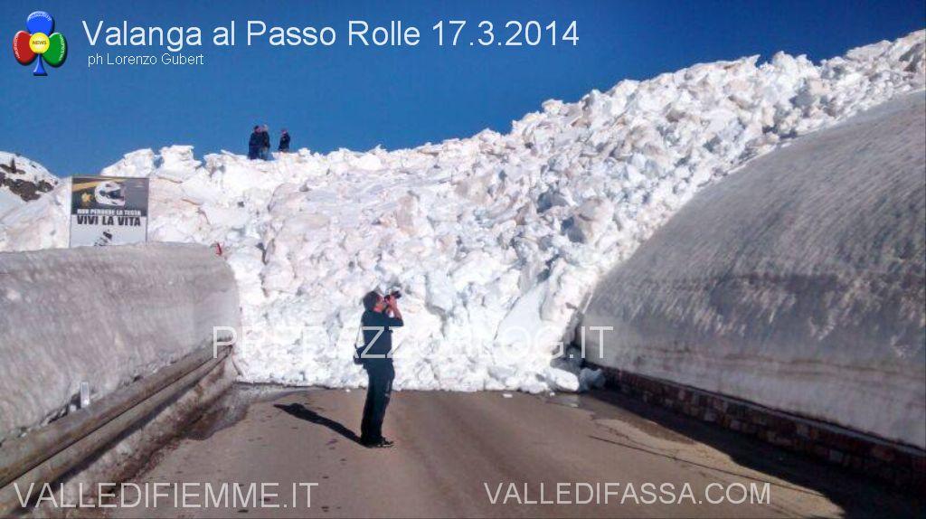 valanga al passo rolle 17.3.2014 predazzoblog.it2  Passo Rolle, operazione dinamite fallita! Apertura strada a singhiozzo
