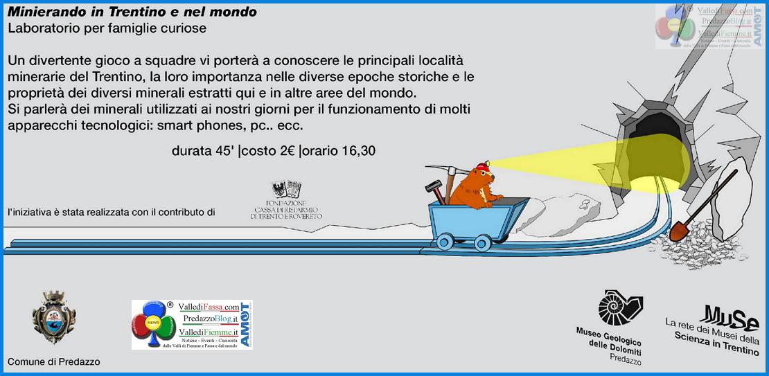 minierando predazzo blog Minierando in Trentino arriva a Predazzo con il MUSE
